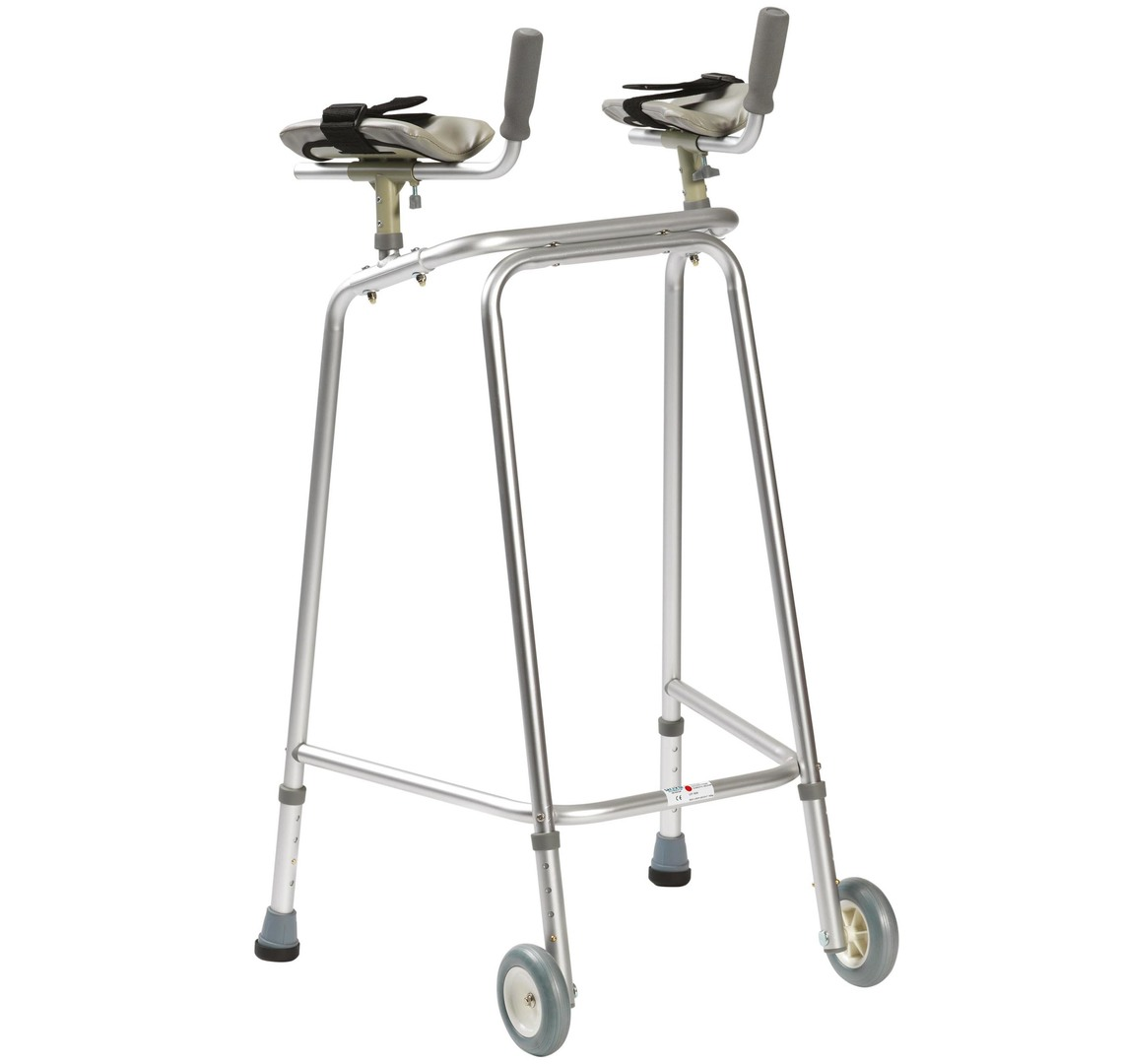 Rigid Walker With Wheels & Forearms   Medical Supermarket