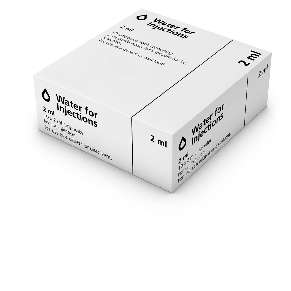 (POM) Water for Injection Ampoule 2ml | Medical Supermarket