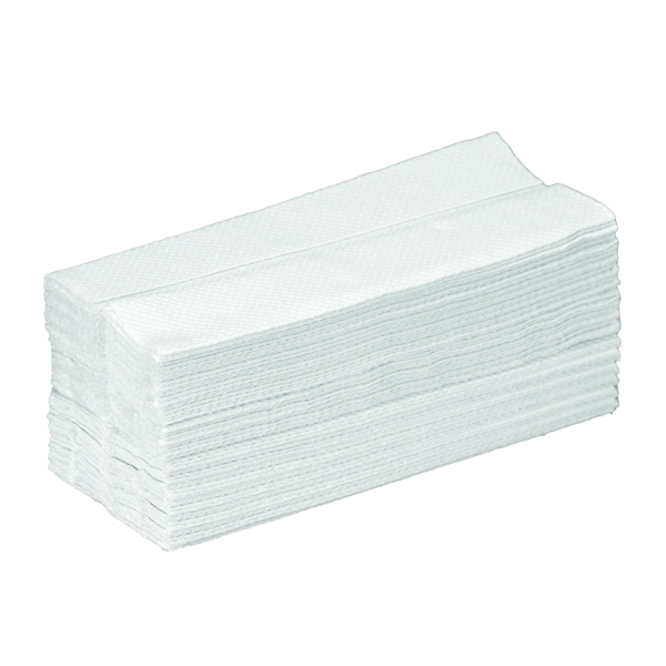 Standard 2 Ply Z Fold Hand Towels White | Medical Supermarket