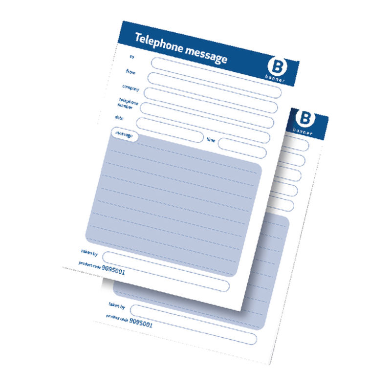 Telephone Message Book Wirebound Carbonless 320 Notes 80 Pages 127x206 | Medical Supermarket