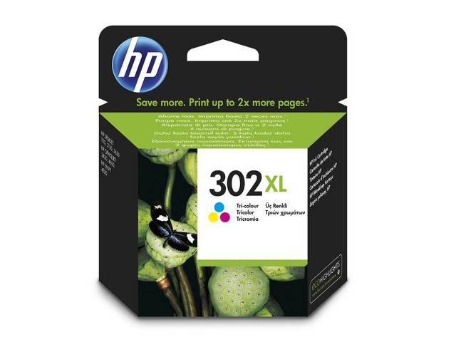 HP No.302 High Capacity Ink Cartridge Tri-Colour | Medical Supermarket