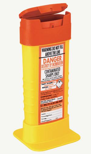 Sharpsguard Orange Sharps Bin 0.6 Litre | Medical Supermarket