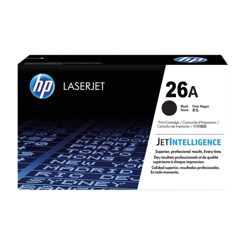 Black HP 26A Toner Cartridge | Medical Supermarket