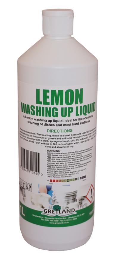 Lemon Washing Up Liquid 1 Litre-Pack of 1 | Medical Supermarket