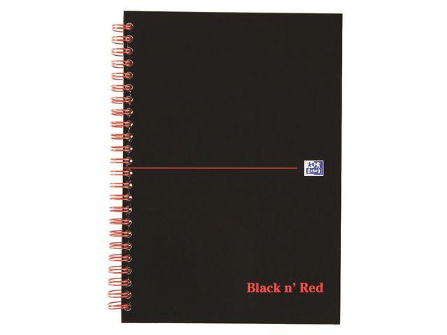 Black n Red A5 Wirebound Notebook Ruled - Hardback | Medical Supermarket