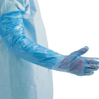 Non Medical Blue Polythene Gauntlets | Medical Supermarket