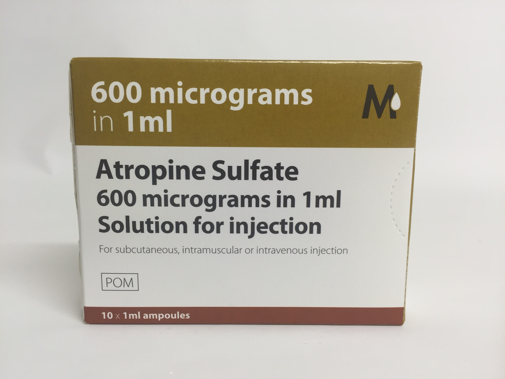 (POM) Atropine Sulphate Injection 600mcg 1ml | Medical Supermarket