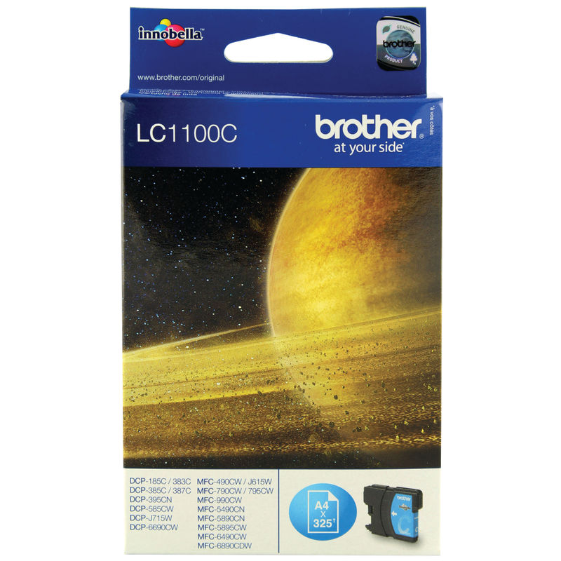 Brother LC1100C InkJet Print Cartridge Cyan | Medical Supermarket