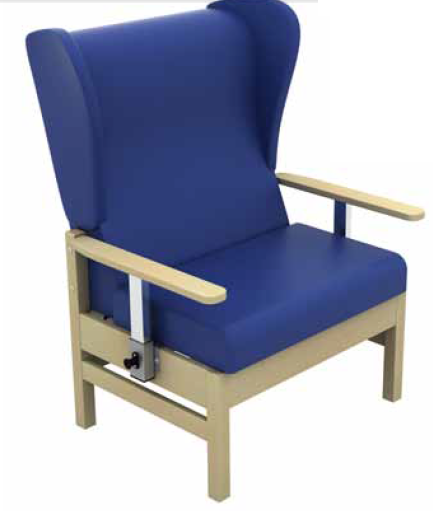 Atlas High-Back Bariatric Arm Chair with Drop Arms Vinyl Fabric | Medical Supermarket