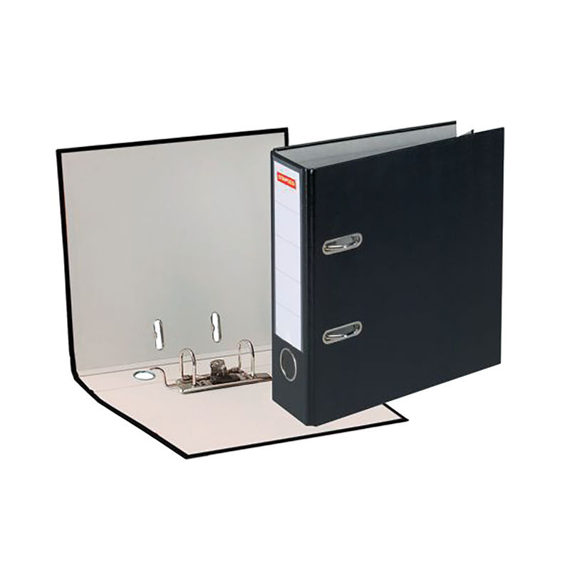 Premium A4 80mm Plastic Lever Arch File Black | Medical Supermarket