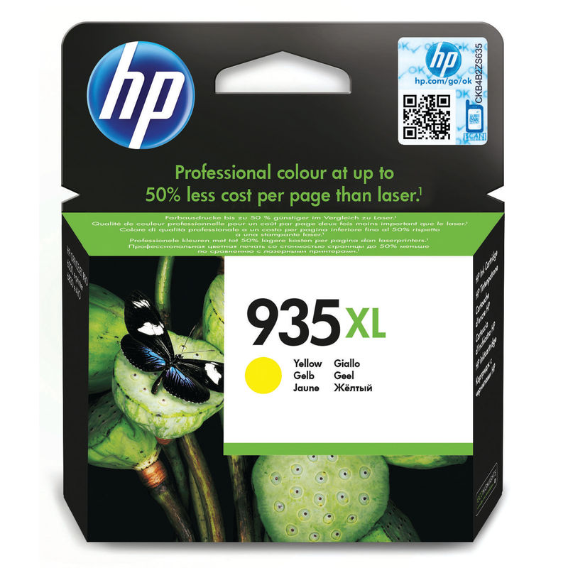 HP No.934XL High Capacity Yellow Ink Cartridge | Medical Supermarket