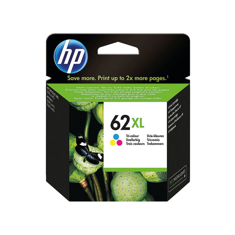 HP No.62XL Tri-Colour Ink Cartridge | Medical Supermarket