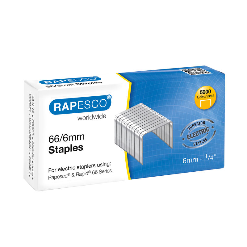 Rapesco Staples 66/6, 6 mm | Medical Supermarket