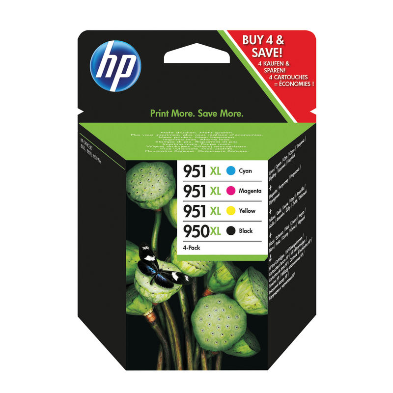 HP No.950 & 951XL High Capacity Cartridge HP No.950 & 951XL High Capacity Cartridge Combo Pack | Medical Supermarket