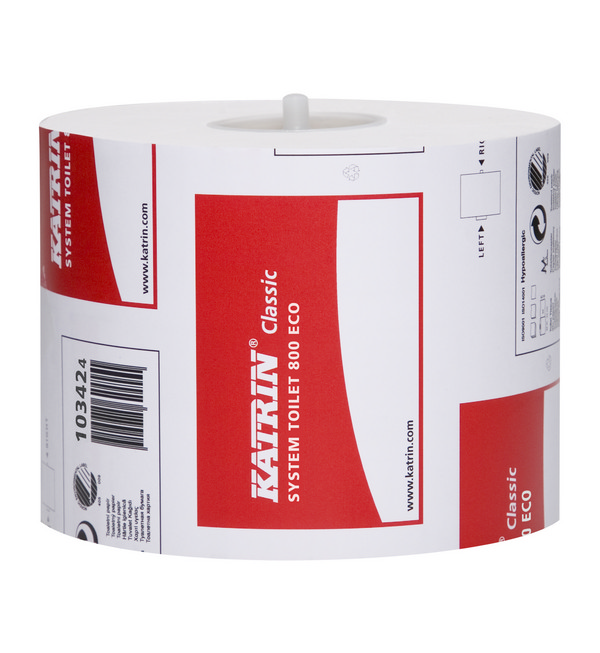 Katrin Classic Eco System 2-ply 100% Recycled Toilet Roll | Medical Supermarket