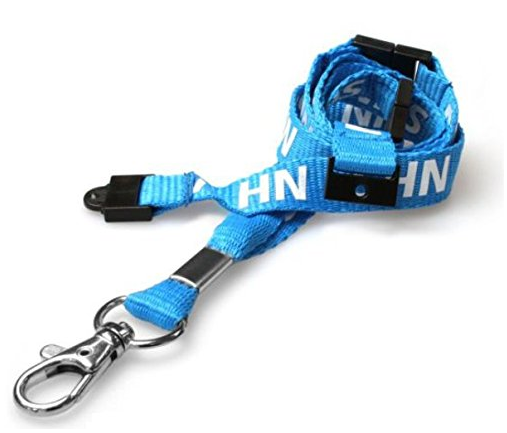 NHS Staff Blue Lanyard with Clip | Medical Supermarket