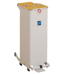 Kendal 20 Litre Waste Bin White Lid | Medical Supermarket