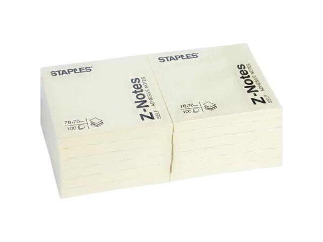 Yellow Z-Fold Sticky Notes 76 x 76mm | Medical Supermarket
