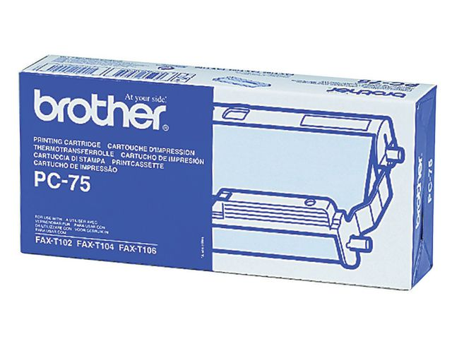 Brother PC-75 Cartridge With Ribbon | Medical Supermarket