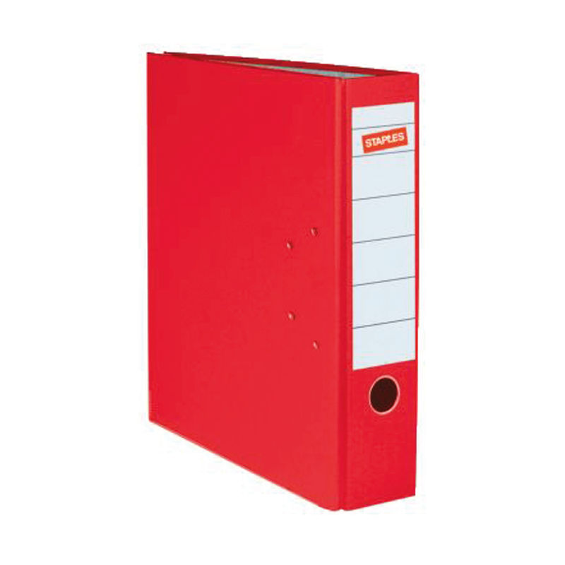A4 80mm Lever Arch Files Red | Medical Supermarket
