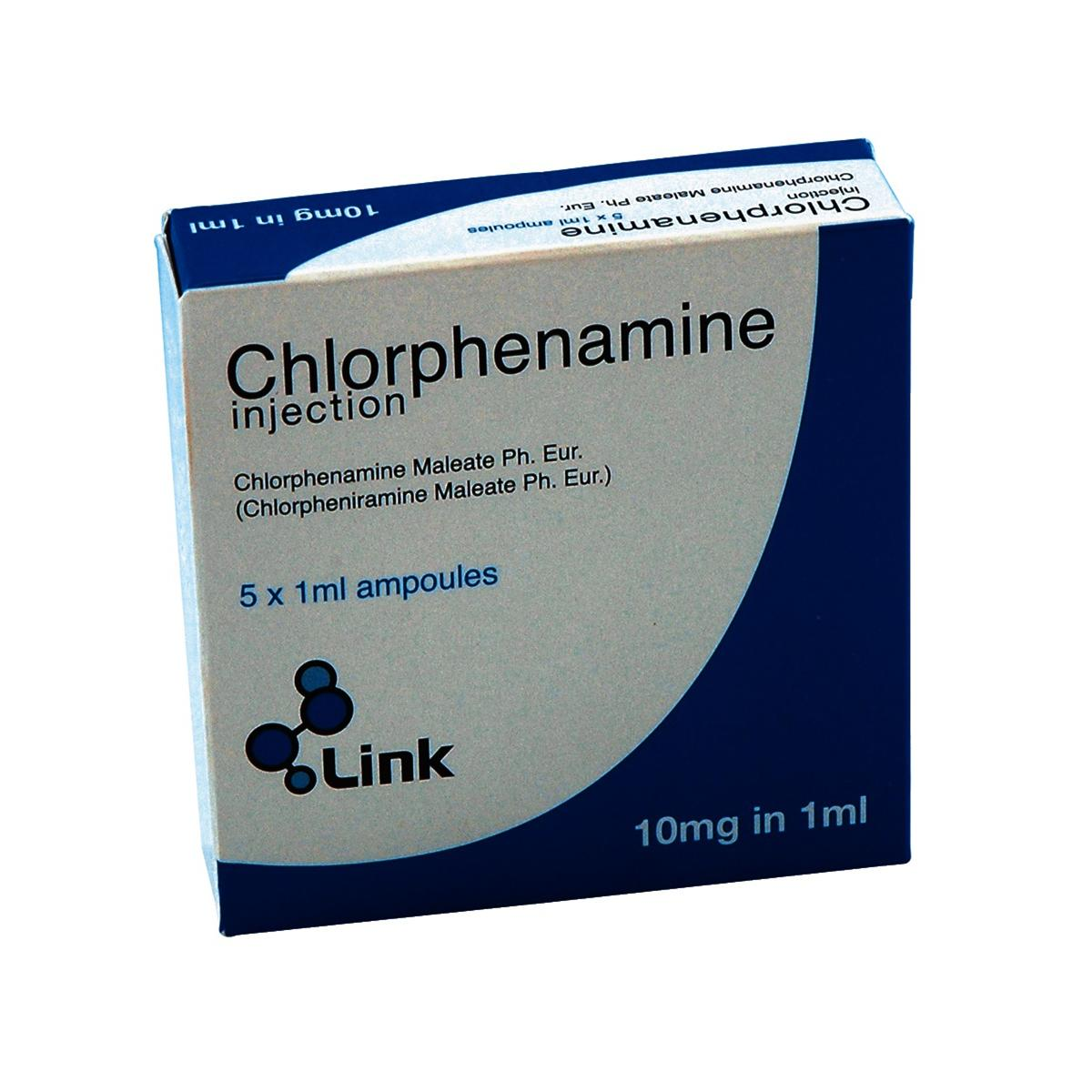 (POM) Chlorphenamine 10mg/1ml Injection 10mg/1ml Injection | Medical Supermarket