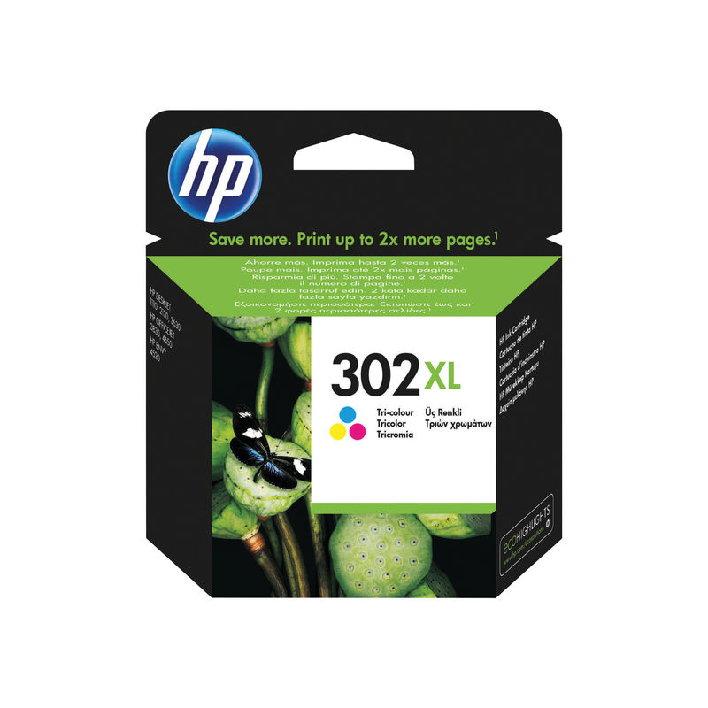 HP No.302XL High Capacity Ink Cartridge Tri-Colour | Medical Supermarket