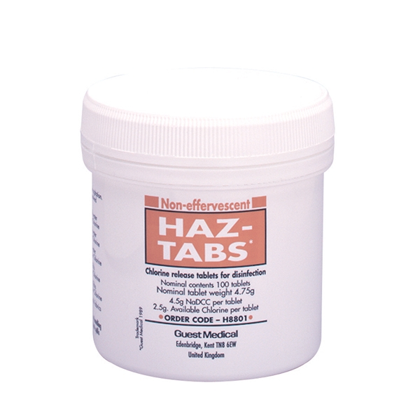 Effervescent Haz-Tabs (100 Tablets)   Medical Supermarket