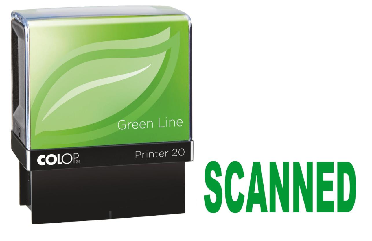 Colop Printer 20 SCANNED Self-Inking Stamp Green   Medical Supermarket
