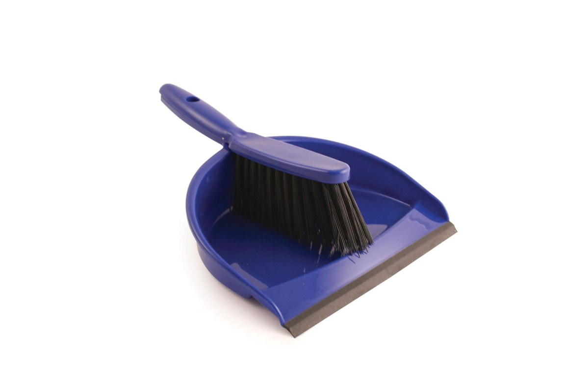 Plastic Dustpan & Brush Set Blue | Medical Supermarket