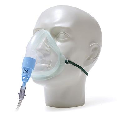 EcoLite, adult, oxygen mask with venturi valve 24% venturi valve, blue and 1.8m tube | Medical Supermarket