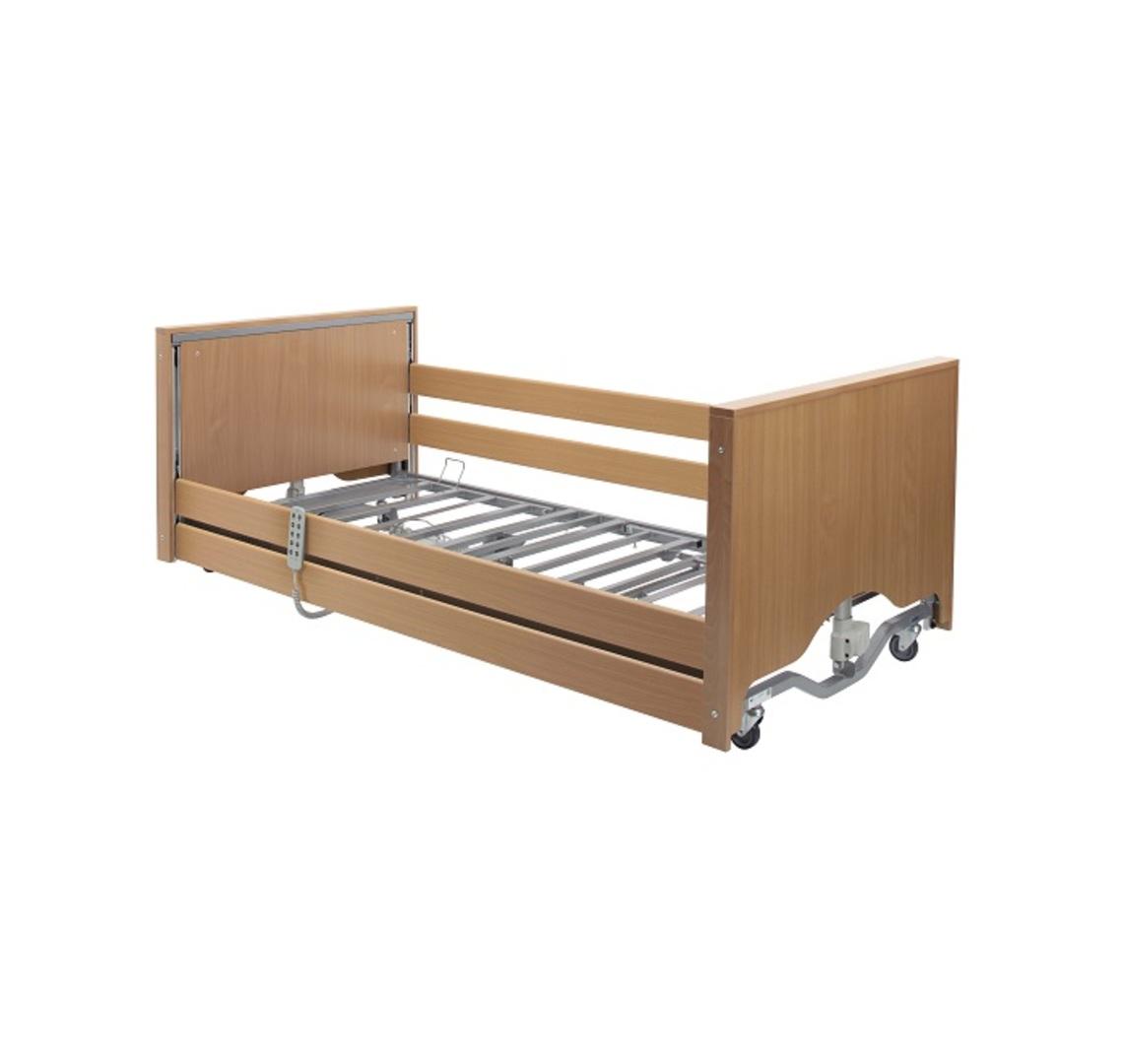 Casa Elite Low Bed with Wooden Side Rail Kit | Medical Supermarket