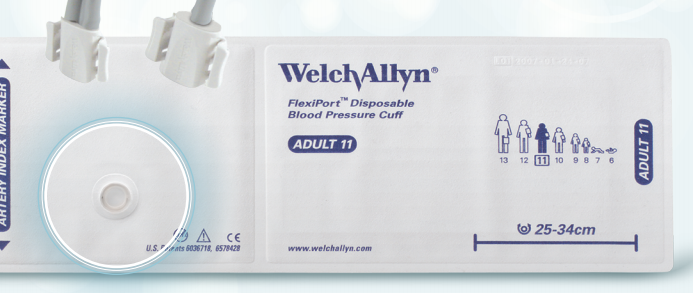 Welch Allyn Flexiport Adult Disposable Soft Cuff - Size 11 (20 Pack) | Medical Supermarket