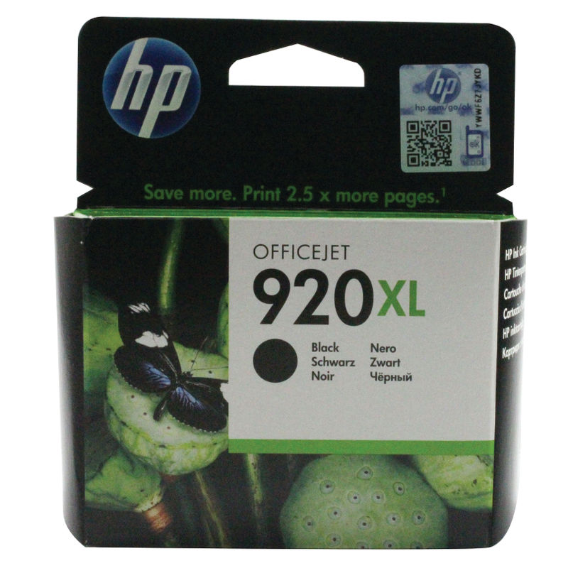 HP No.920XL High Capacity Ink Cartridge Black | Medical Supermarket