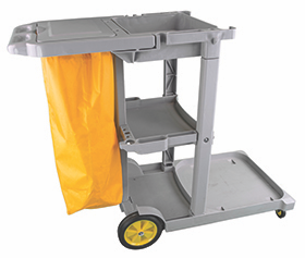 Multi-Purpose Janitorial Trolley with Bag | Medical Supermarket
