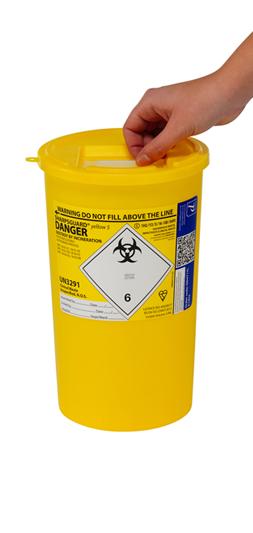 Sharpsguard Yellow Sharps Bin 5 Litre | Medical Supermarket