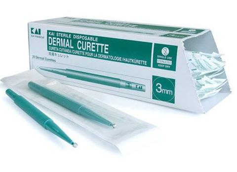 KAI Disposable Curette - Pack of 20 2mm | Medical Supermarket