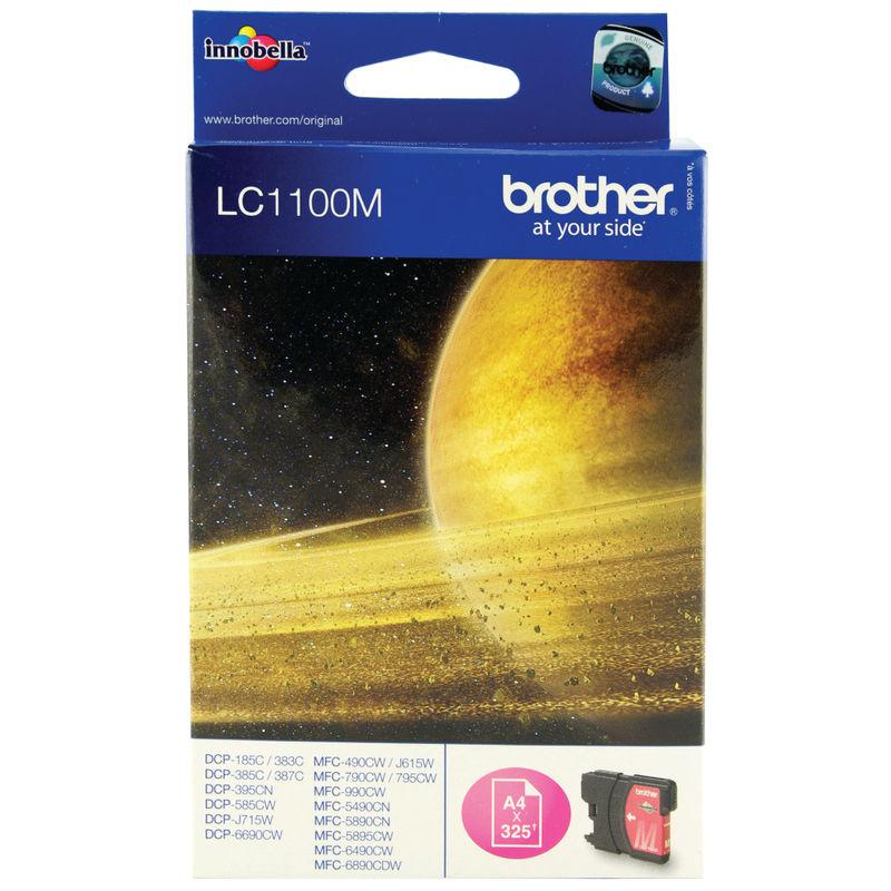 Brother LC1100M InkJet Print Cartridge Magenta | Medical Supermarket