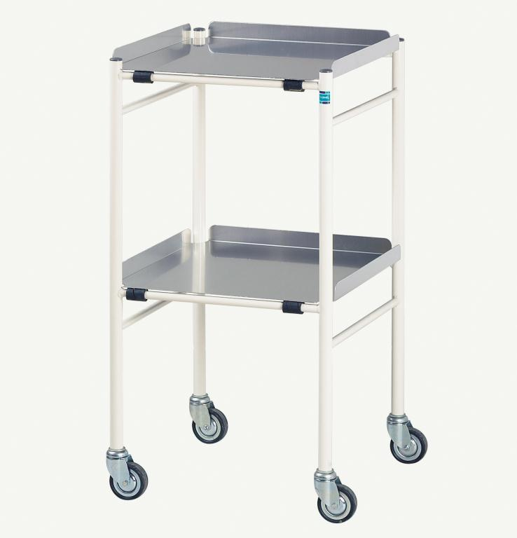 Halifax Trolley with 2 Aluminium Shelves 460 x 460mm | Medical Supermarket