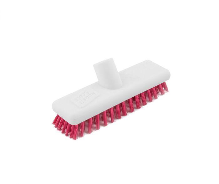 Washable Deck Scrub Brush Red | Medical Supermarket