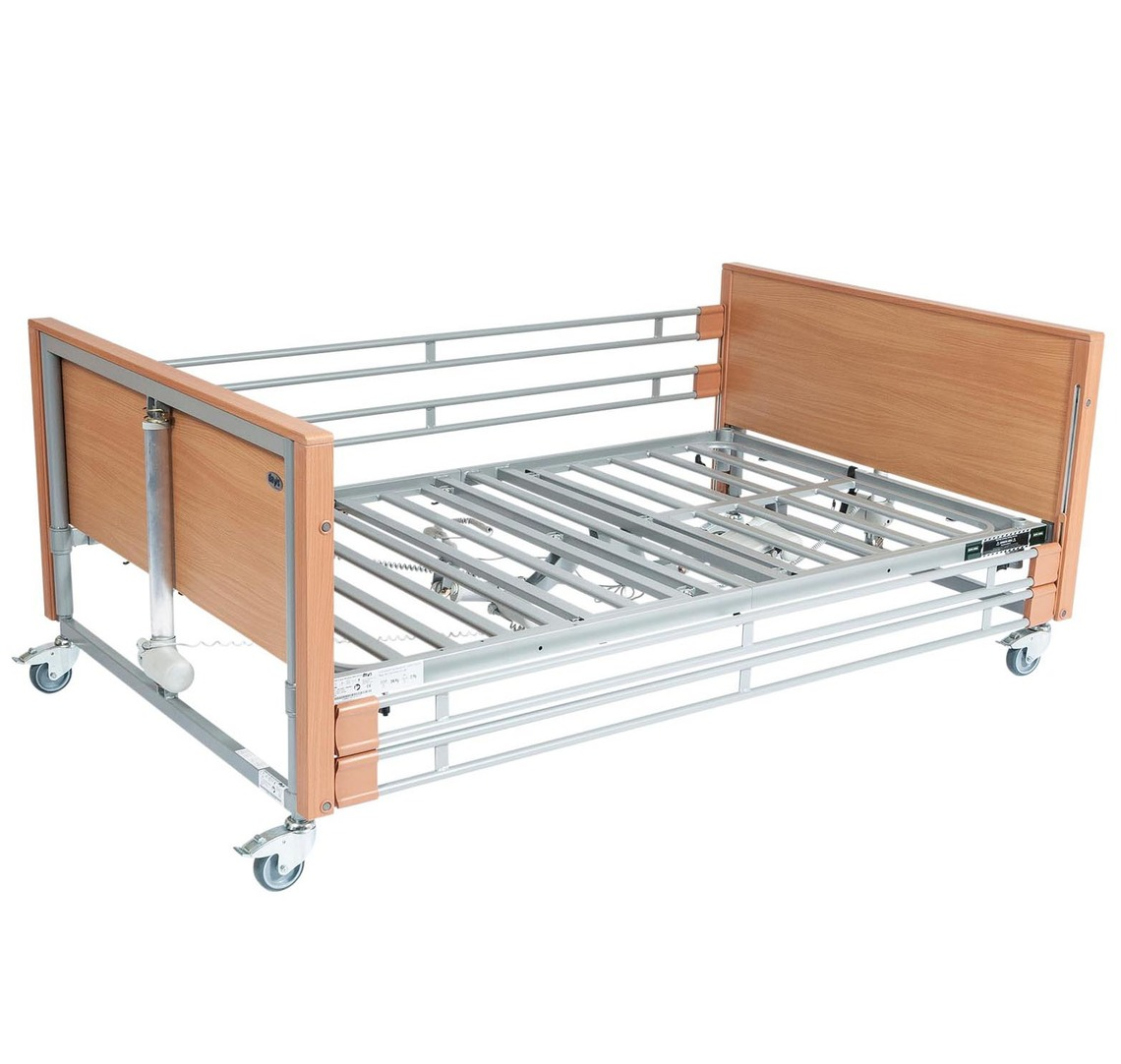 Casa Med Bariatric Bed Ultra Low With Side Rails | Medical Supermarket