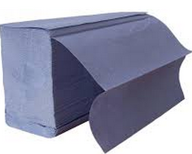Standard 1 Ply Z Fold Hand Towel Blue | Medical Supermarket