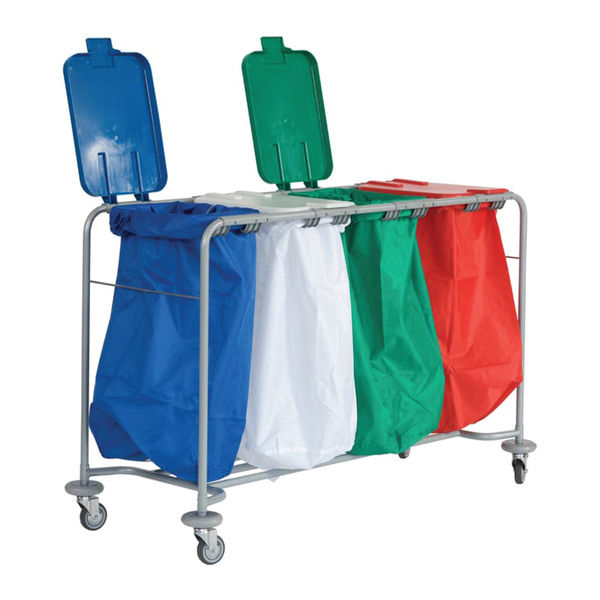 130 Lid For Laundry Trolley Blue | Medical Supermarket