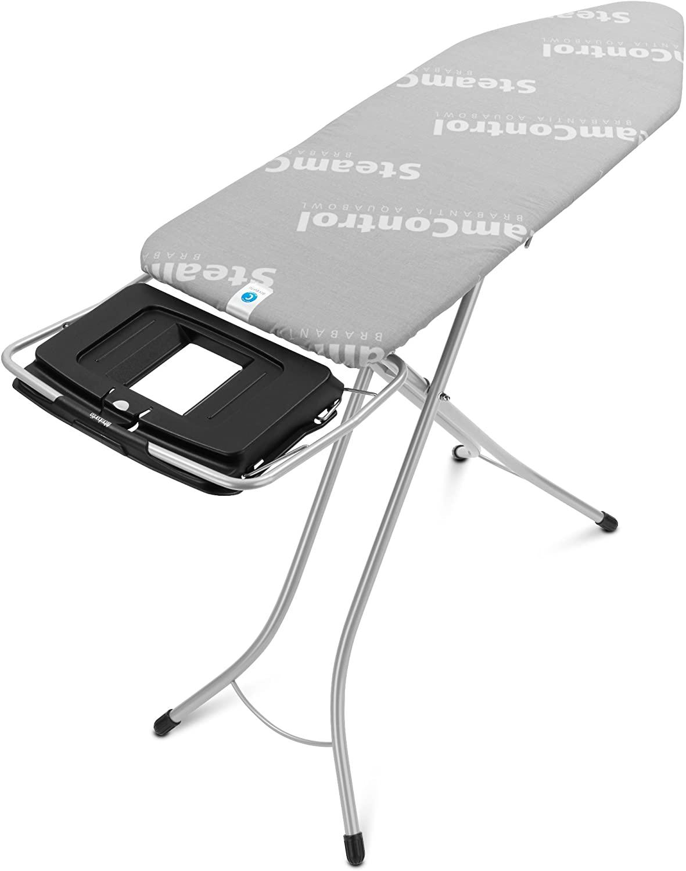 Brabantia Silver Ironing Board with Aqua Bowl Steam Control, L-124 x W-45cm, Size C | Medical Supermarket