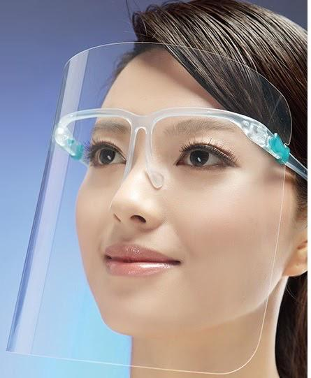 Safety Glasses for Replaceable Face Shield | Medical Supermarket