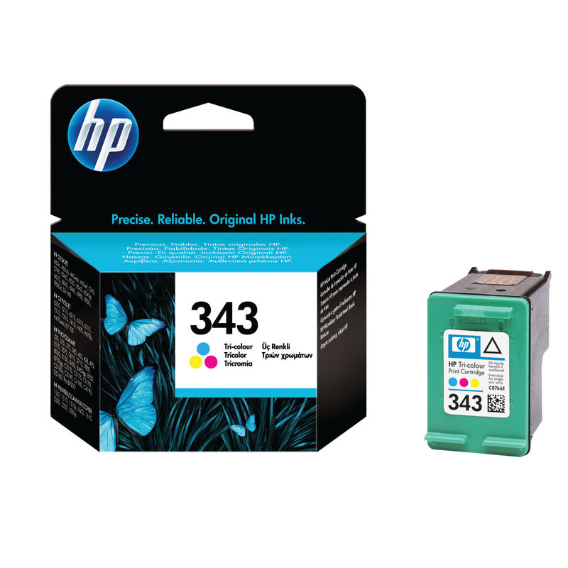 HP No.343 Tri-Colour Ink Cartridge Single Pack | Medical Supermarket