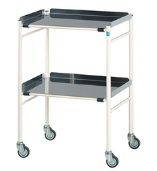Harrogate Trolley with 2 Stainless Steel Shelves 610 x 460mm | Medical Supermarket